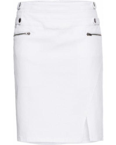 Джинсовая юбка белая Bonprix