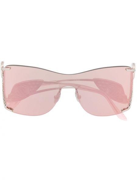 Różowe okulary oversize Philipp Plein
