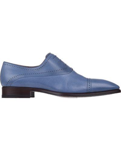 Кожаные оксфорды - голубые A.testoni