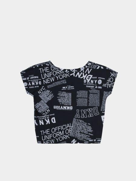 Черная футболка Dkny