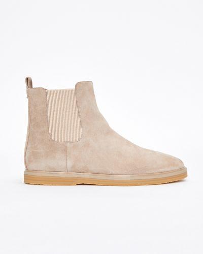 Замшевые ботинки челси - бежевые 12storeez