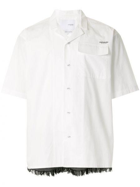 Свободная рубашка с короткими рукавами с бахромой на пуговицах Yoshiokubo