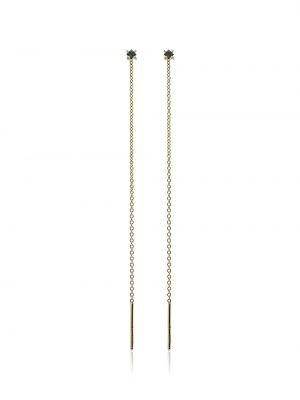 Черные серьги-гвоздики Lizzie Mandler Fine Jewelry