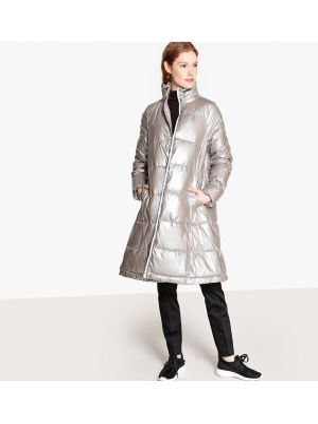 Стеганая куртка длинная с воротником стойкой La Redoute Collections