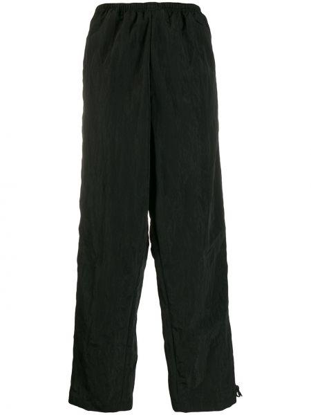 Черные прямые спортивные брюки с воротником с поясом Hyein Seo