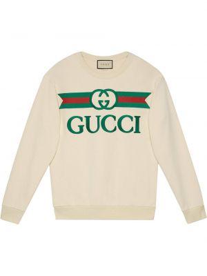 Белая кофта с вырезом Gucci