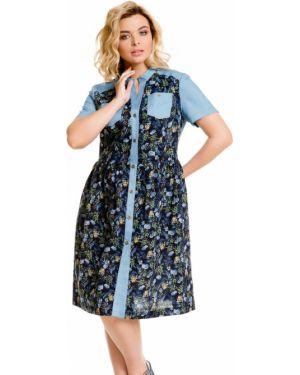 Летнее платье джинсовое на пуговицах Novita