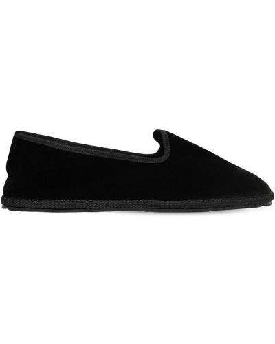 Czarne loafers z aksamitu Vibi Venezia