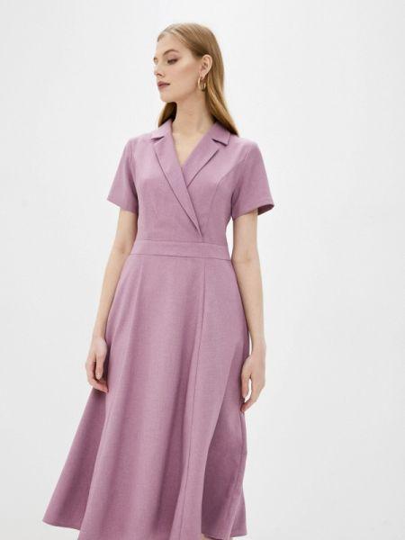 Повседневное платье розовое весеннее Rosso-style