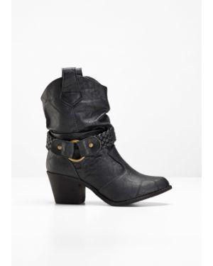 Ковбойские сапоги черные кожаные Bonprix