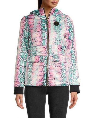 Длинная куртка с капюшоном с воротником с манжетами Roberto Cavalli