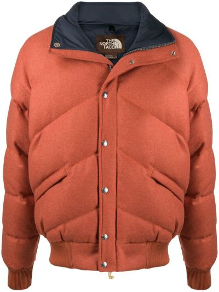С рукавами синяя длинная куртка с подкладкой The North Face