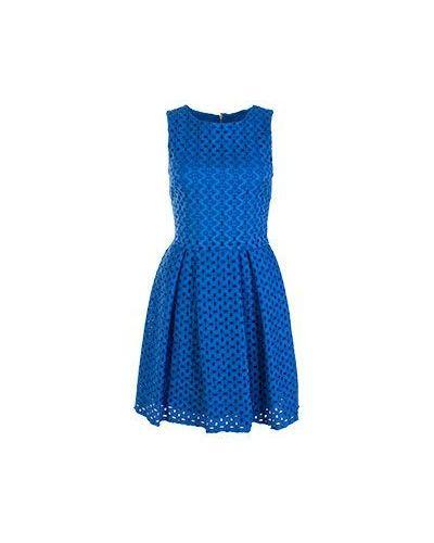 Хлопковое повседневное синее платье Flavio Castellani
