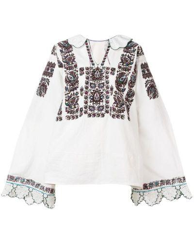 Свободная блузка винтажная с вышивкой Rewind Vintage Affairs