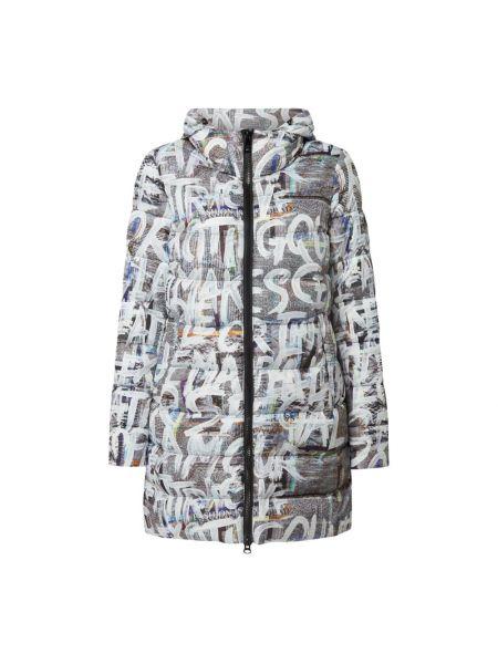 Biała kurtka pikowana z printem Fuchs Schmitt