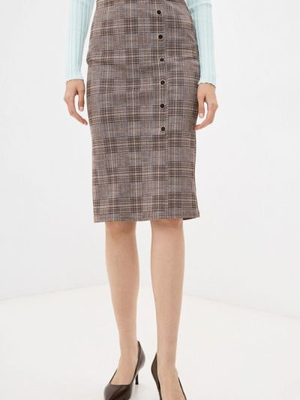 Зауженная юбка - коричневая Moki
