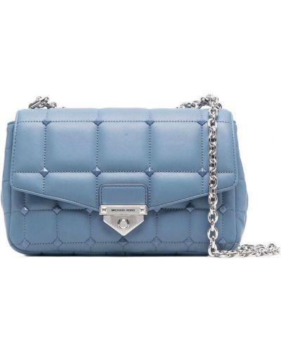 Синяя сумка на плечо с заклепками с шипами Michael Michael Kors