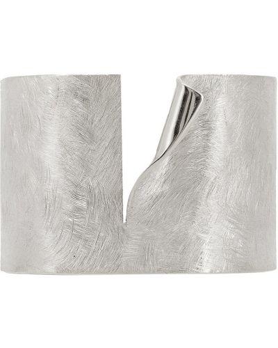 Широкий браслет серебряный кафф Lisa Smith