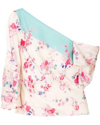 Бежевая блузка шелковая Vilshenko