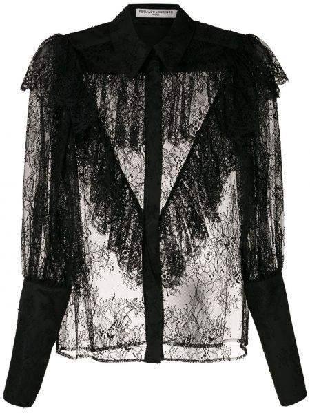 Рубашка прозрачная - черная Reinaldo Lourenço