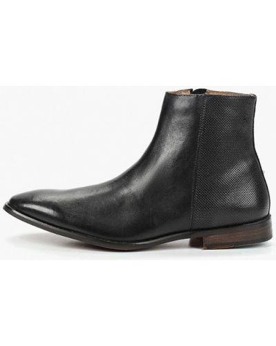 Кожаные ботинки - черные Burton Menswear London