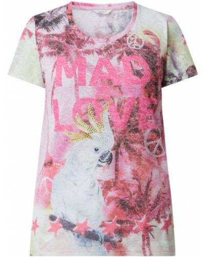 Różowy t-shirt z wiskozy Frogbox