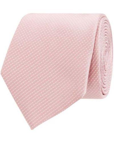 Różowy jedwab krawat Christian Berg Men