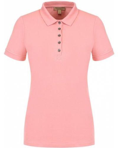 Розовое поло однотонное Burberry