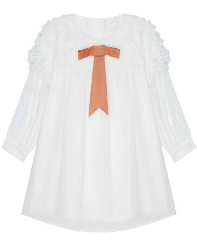 Платье с рукавами длинное свободного кроя Chloé Kids