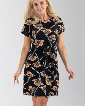 Платье мини из штапеля с поясом Liza Fashion