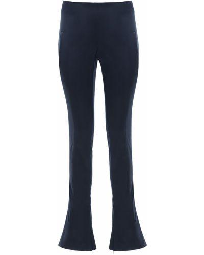 Niebieski spodnie z mankietami chudy z kieszeniami Off-white