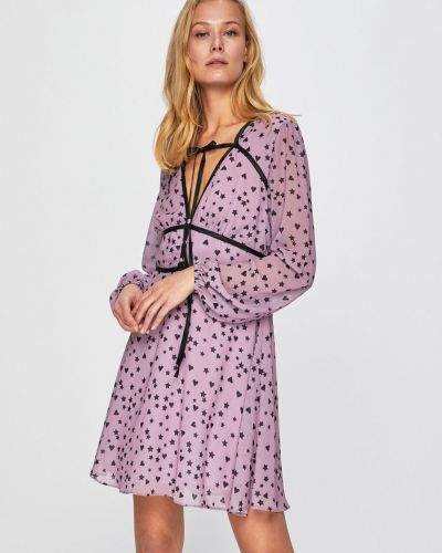Платье мини на пуговицах расклешенное Glamorous