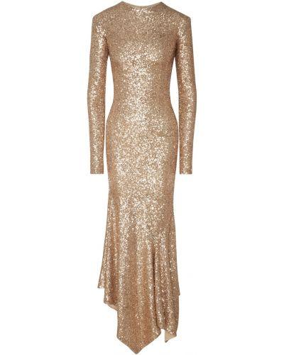 Вечернее платье платье-русалка с вырезом Galina Podzolko