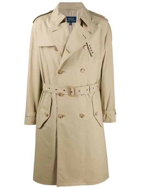 Классическое поло с карманами с длинными рукавами на пуговицах Polo Ralph Lauren