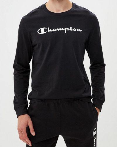 Черный лонгслив Champion