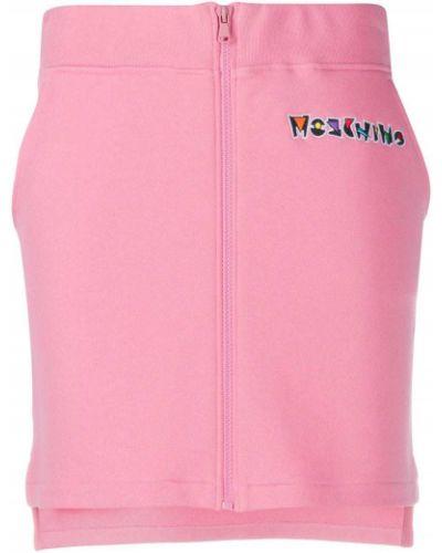 Bawełna różowy spódnica z kieszeniami Moschino