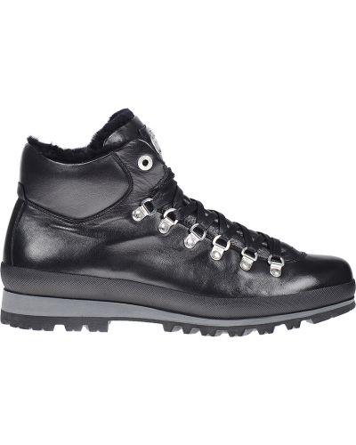 Кожаные ботинки осенние черные Bogner