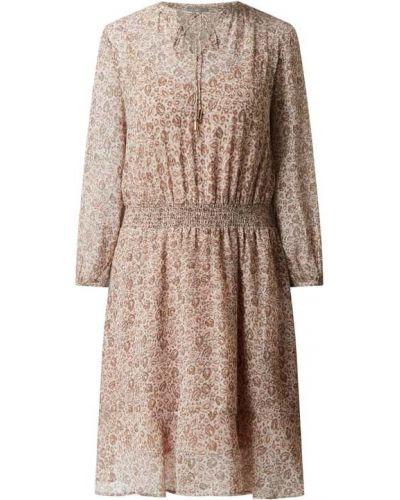 Różowa sukienka rozkloszowana rozkloszowana z szyfonu Jake*s Collection