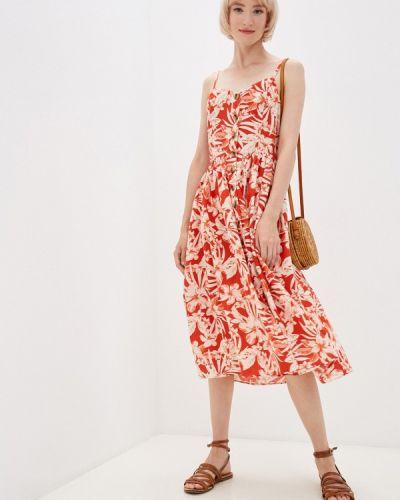 Красное турецкое платье Mavi