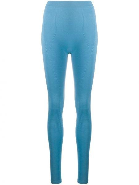 Niebieskie legginsy z wysokim stanem Rick Owens