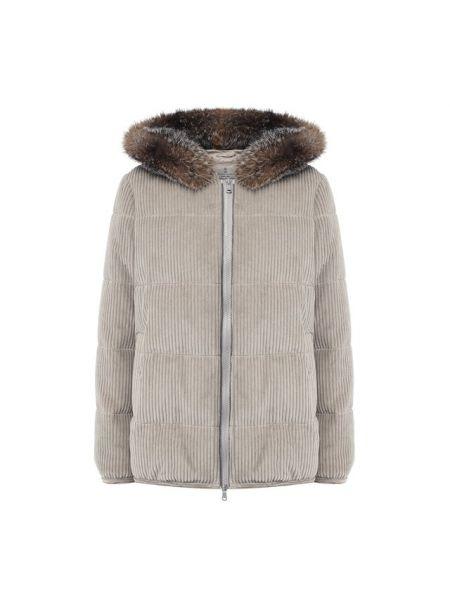 Куртка с капюшоном спортивная вельветовая Brunello Cucinelli