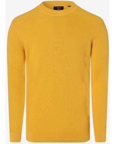 Sweter dzianinowy - żółty Superdry