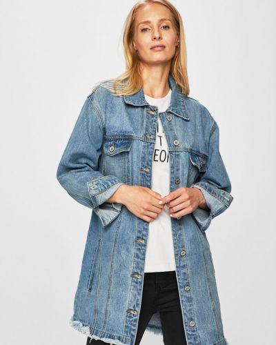 Джинсовая куртка облегченная на пуговицах Answear