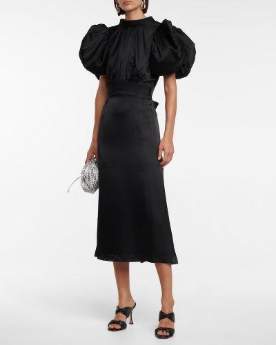 Czarna sukienka z wiskozy Rotate Birger Christensen