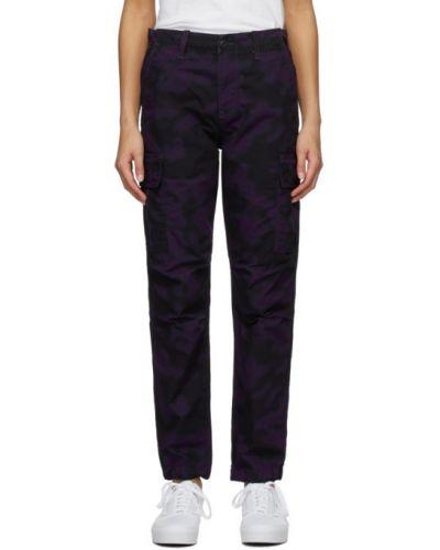 Bawełna spodni czarny spodnie z kieszeniami Carhartt Work In Progress