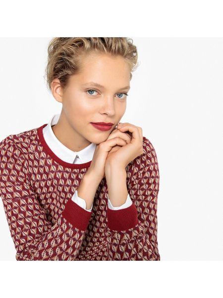 Пуловер жаккардовый тонкий La Redoute Collections