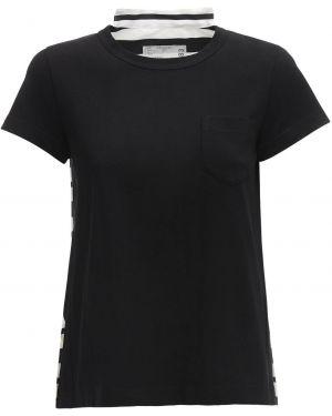 Рубашка с коротким рукавом с карманами деловая Sacai