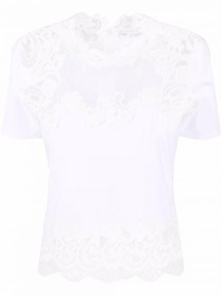 Хлопковая белая футболка стрейч Ermanno Scervino