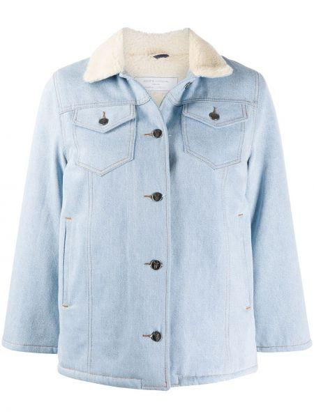 Ватная синяя джинсовая куртка с воротником Société Anonyme