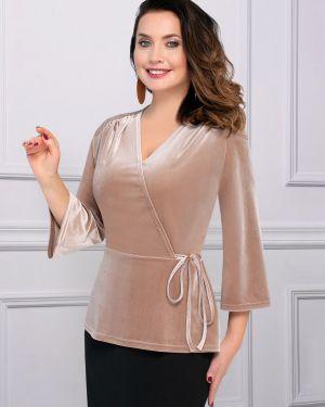 Блузка бархатная с жемчугом Charutti